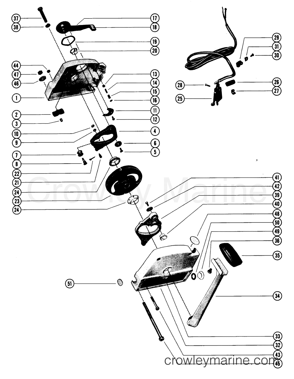 medium resolution of various years rigging parts remote controls and components mercruiser 1985 and below