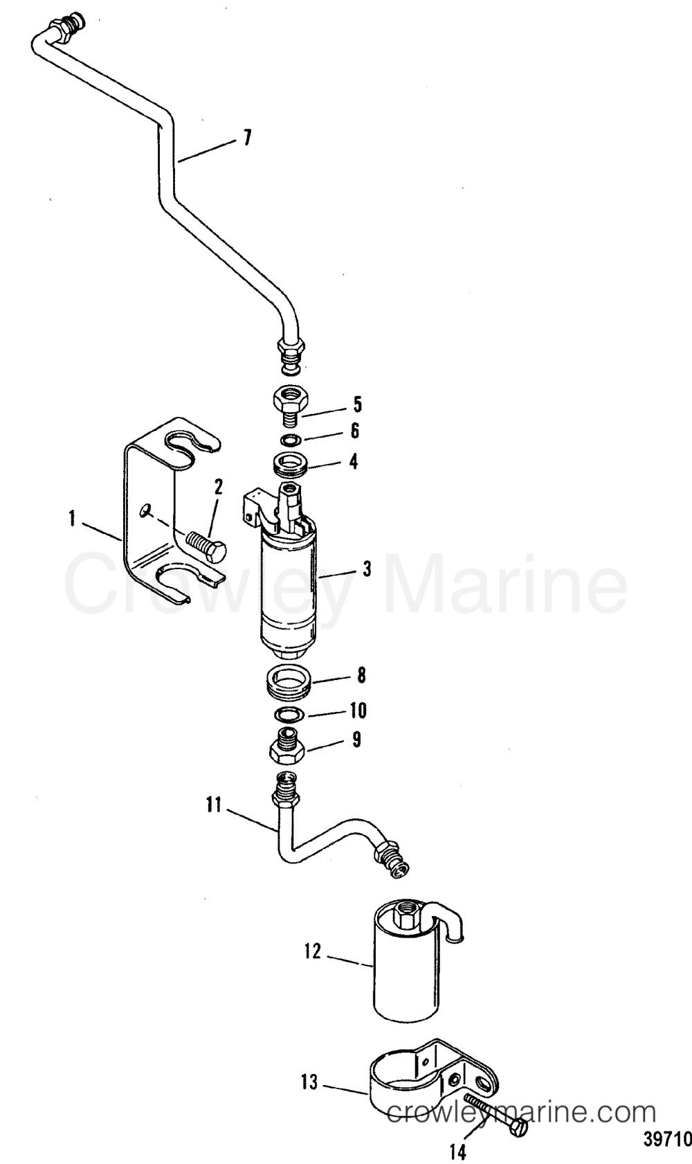 medium resolution of fuel pump and fuel filter 1992 mercruiser 4 3l alpha i 443b0002s diagram of 1992 mercruiser 443b1012s fuel pump and fuel filter diagram