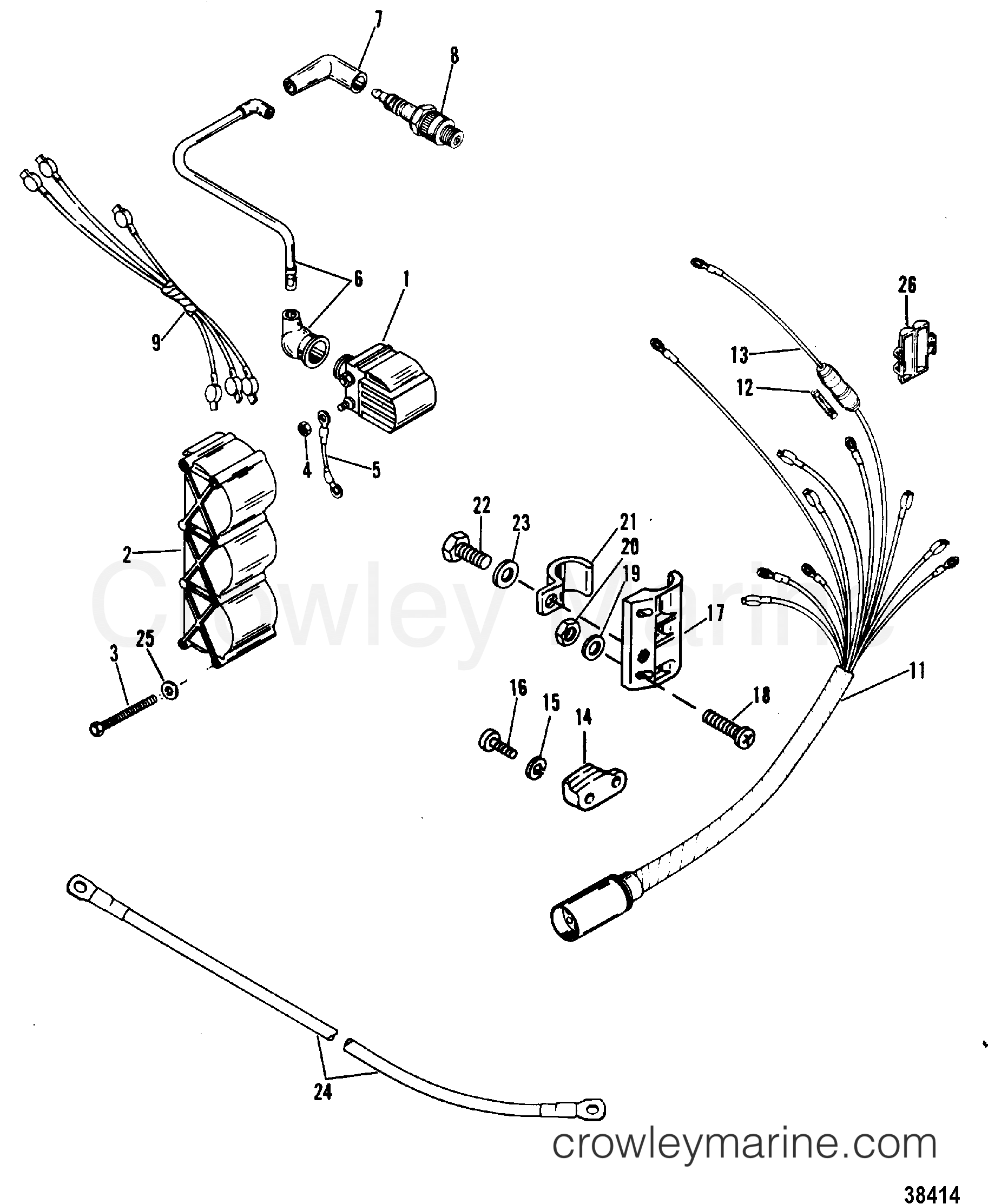 mercury 115 wiring diagram chinese 6 pin cdi harness and ignition coil 1980 mariner outboard