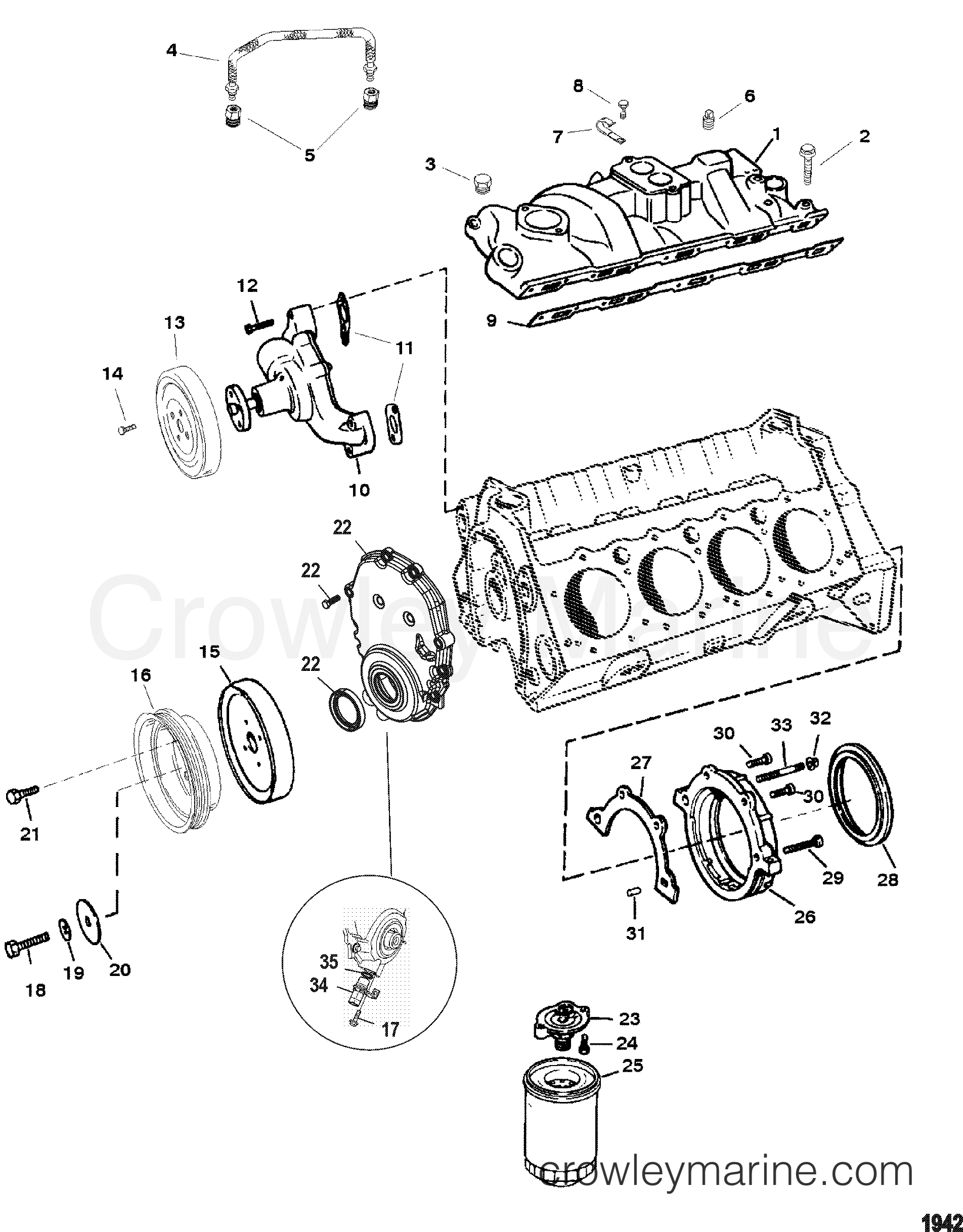 Water Pump And Front Cover