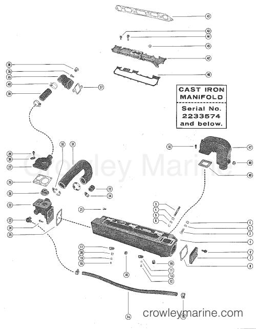 small resolution of serial range mercruiser 160 gm 250 i l6 1967 1969 2048022 thru 2770031