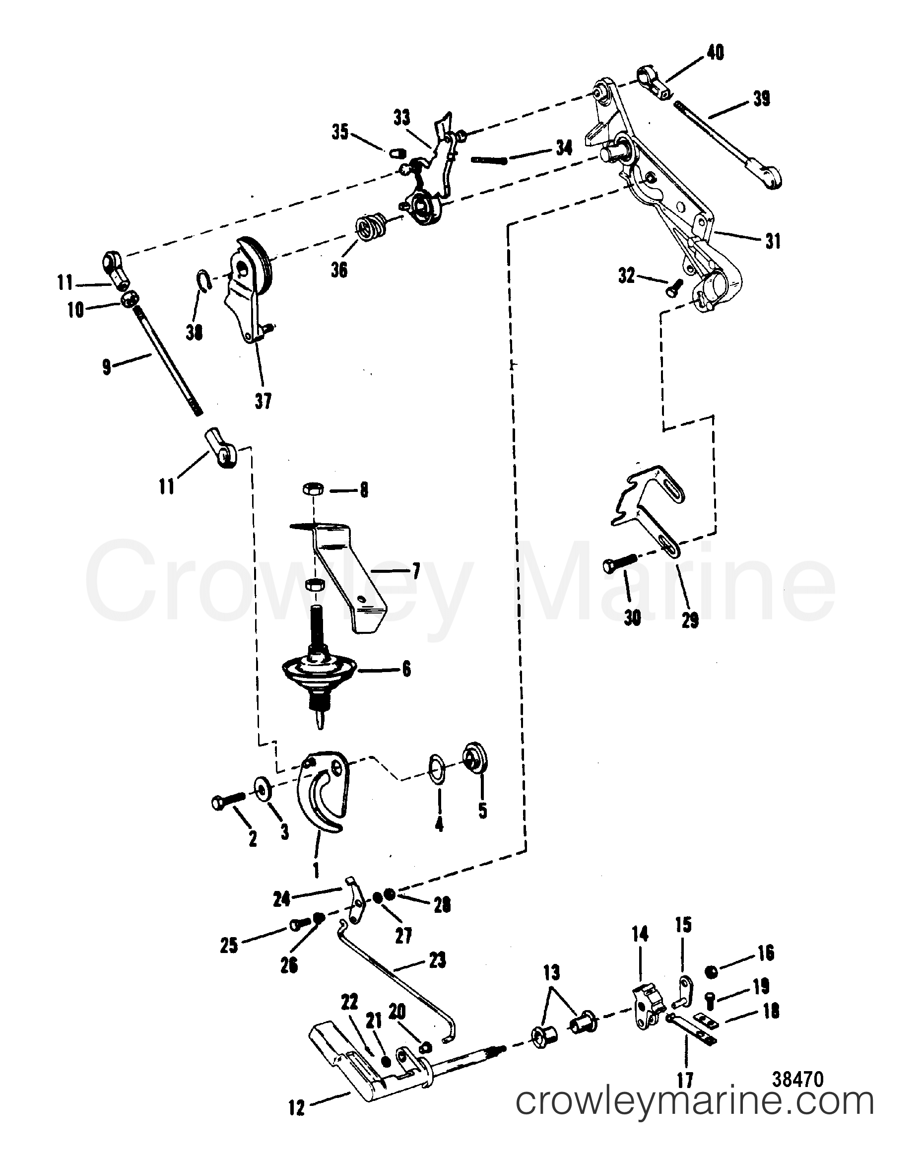 mercury outboard parts online volvo xc90 2006 wiring diagram throttle and shift linkage mariner manual 1977