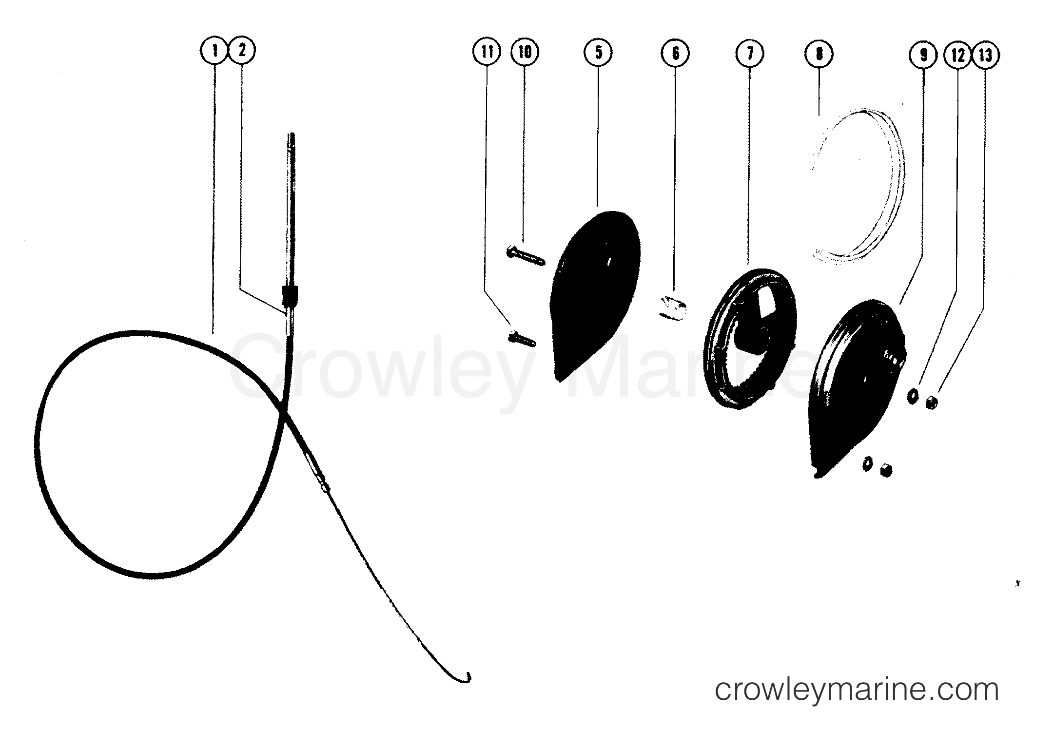 Rotary Ride Guide Cable Assembly