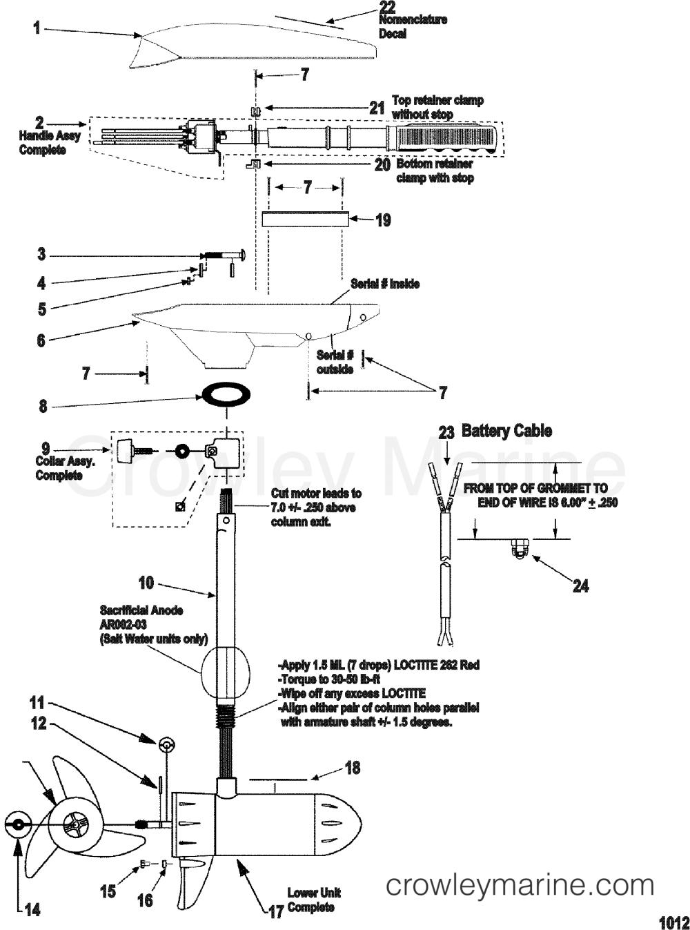 medium resolution of 1999 motorguide 12v motorguide 9et44bdvu complete trolling motor model et34