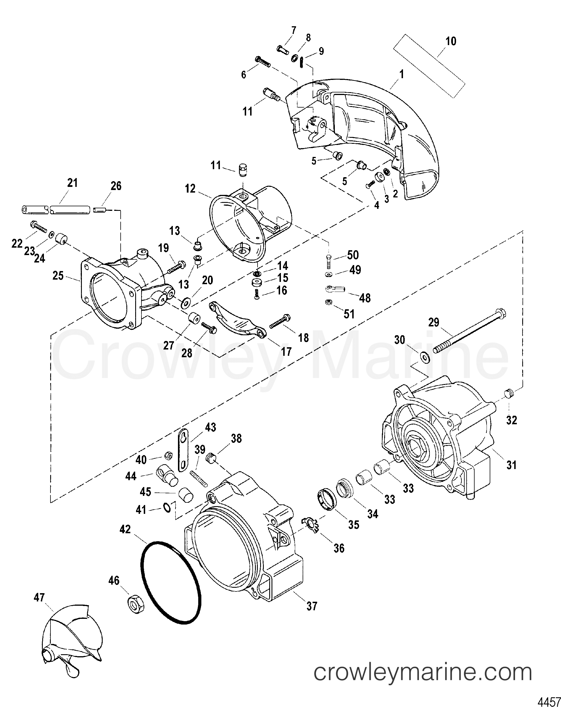 Nozzle And Rudder Components
