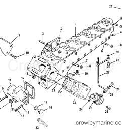 1998 mercruiser 4 2l qsd d tronic 40420001d exhaust manifold section [ 1916 x 1710 Pixel ]