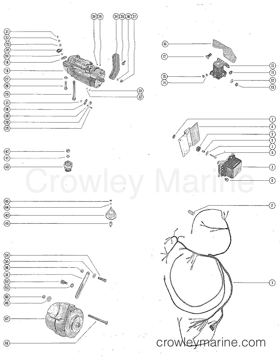 hight resolution of serial range mercruiser 190 gm 283 v 8 1963 1964 1564539 thru 1730903
