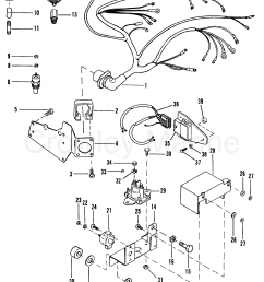 1992 mercruiser 4 3l alpha i 443b0002s wiring harness and electrical components [ 1859 x 2470 Pixel ]