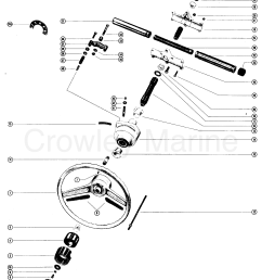 various years rigging parts power steering tiller handles shift kits mc ride guide [ 2160 x 2671 Pixel ]