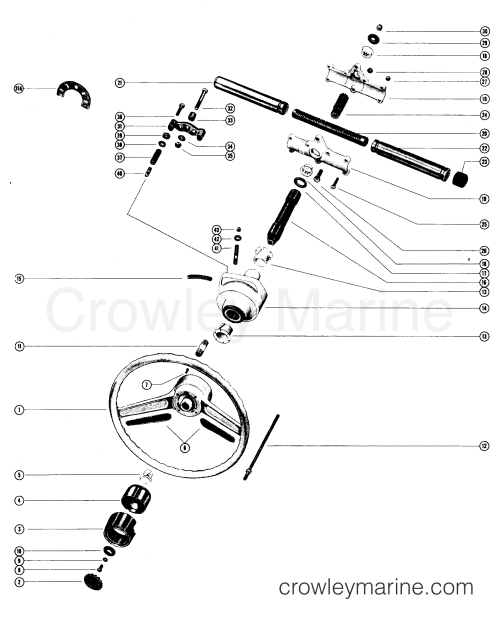 small resolution of various years rigging parts power steering tiller handles shift kits mc ride guide