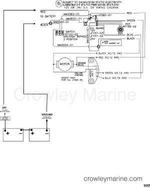 WIRE DIAGRAM(MODEL GWB67V  GWT67V)  1995 MotorGuide 12V [MOTORGUIDE] 9GWT358R1 | Crowley Marine