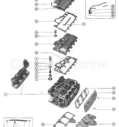 1976 mercury outboard 65 1650506 exhaust and manifold covers section [ 1103 x 1398 Pixel ]