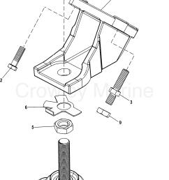 1998 mercruiser 350 mag alpha mpi 444106luu engine mounts section [ 1580 x 2450 Pixel ]