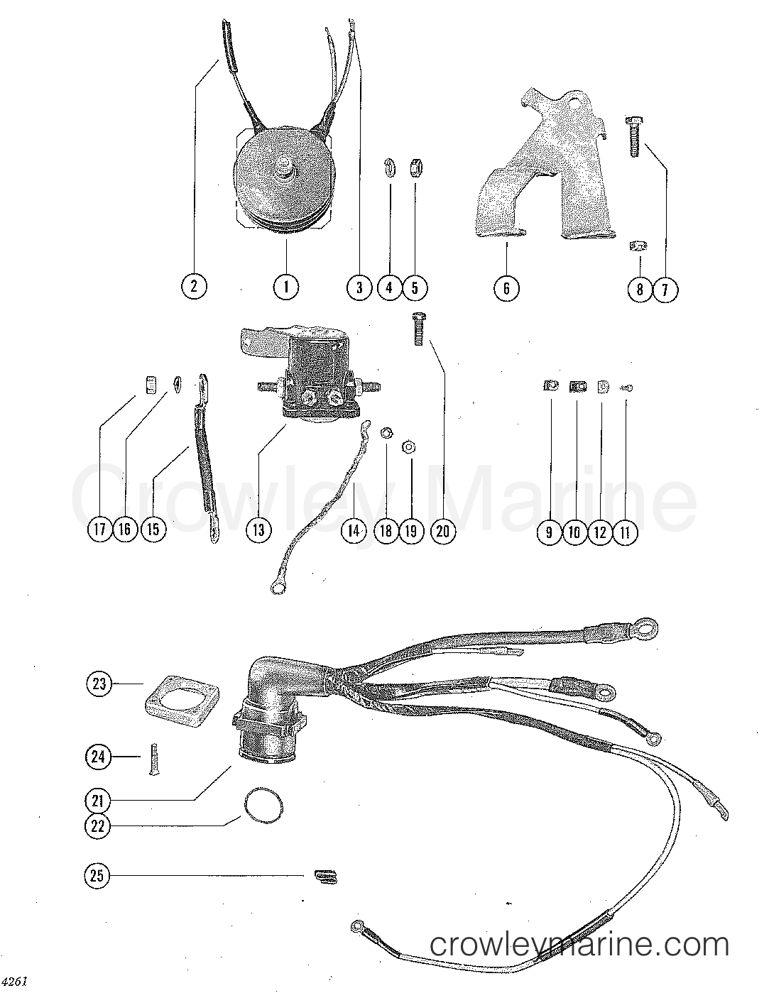 Rectifier Starter Solenoid And Wiring Harness