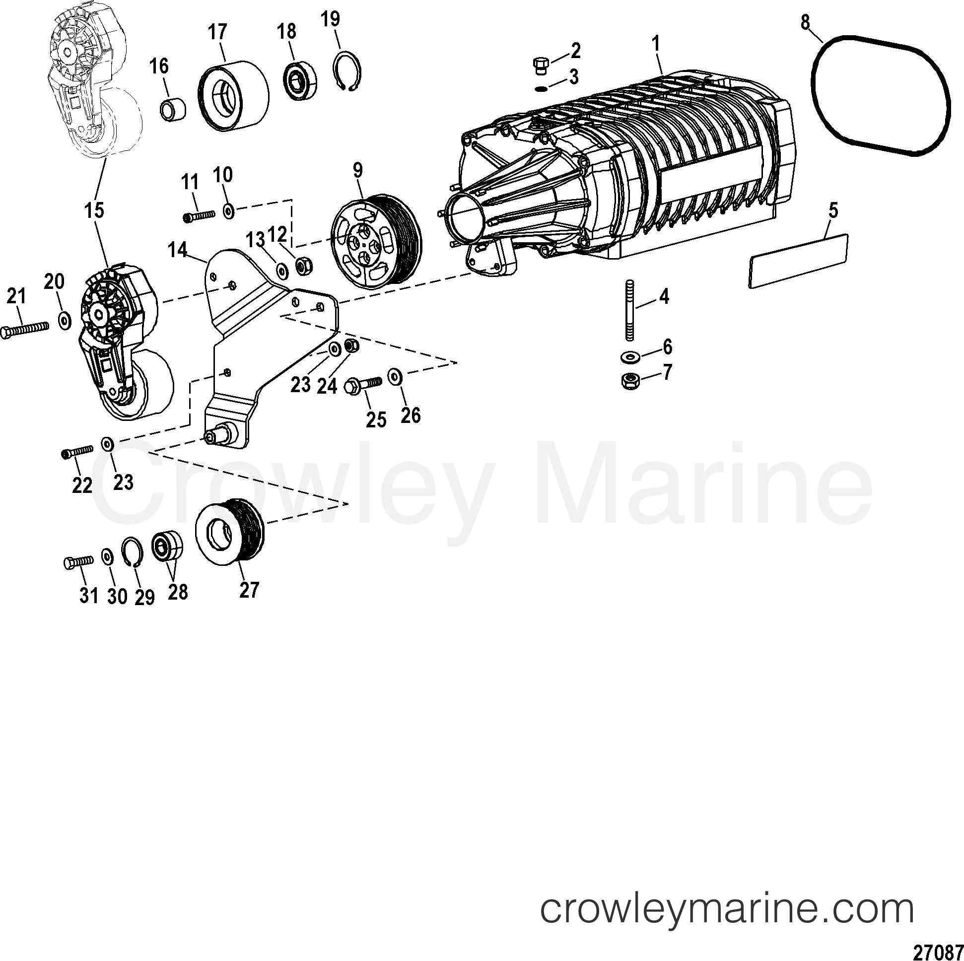 Intake Components Supercharger Assembly