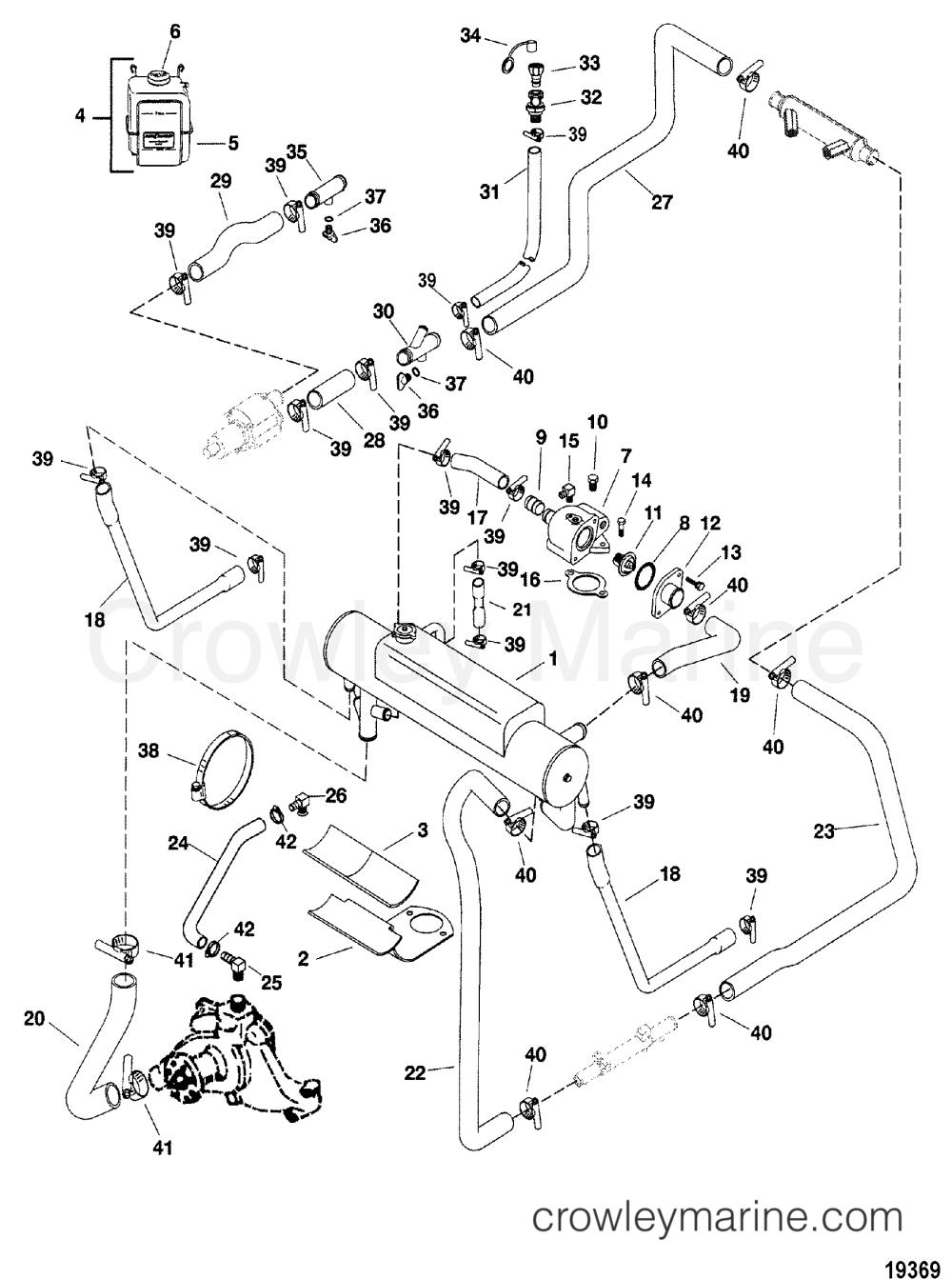 medium resolution of 1998 mercury inboard engine 350 mag mpi horiz 3f4107jm1 closed cooling system