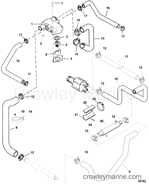 small resolution of standard cooling system bravo engines 1997 mercruiser 5 7l tbi 5 7l engine diagram cooling system