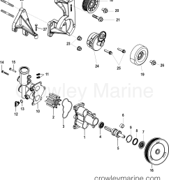 seawater pump serial range mercruiser 496 h o bravo 1g400000 up mercruiser sea water pump diagram [ 1910 x 2231 Pixel ]