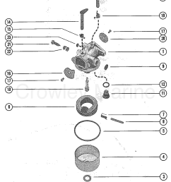 1976 mercury outboard 4 m 1040206 carburetor assembly section [ 1101 x 1405 Pixel ]