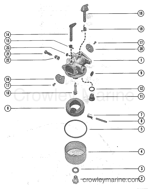 small resolution of 1976 mercury outboard 4 m 1040206 carburetor assembly section