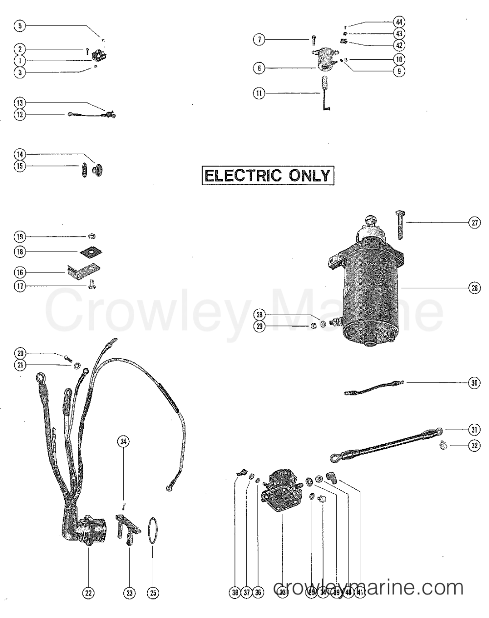medium resolution of starter motor rectifier and wiring harness 1978 mercury 1978 90 hp mercury outboard wiring diagram 1978 90 hp mercury outboard wiring diagram