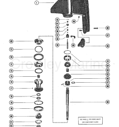 1977 mercruiser 228 2228107 gear housing assembly section [ 1085 x 1403 Pixel ]