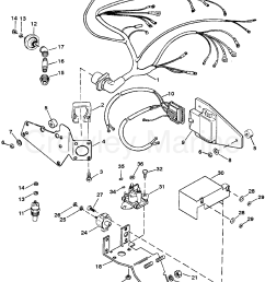 wiring harness electrical mounted on exhaust elbow tb iv 1991 wiring diagram mercruiser 454 [ 1923 x 2492 Pixel ]