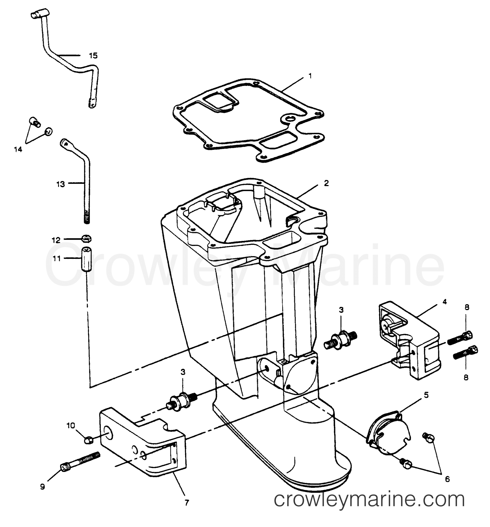 hight resolution of motor leg 1989 force outboard 50 h0505c89b b crowley marine diagram of 1989 force outboard h0505c89b gear housing diagram and