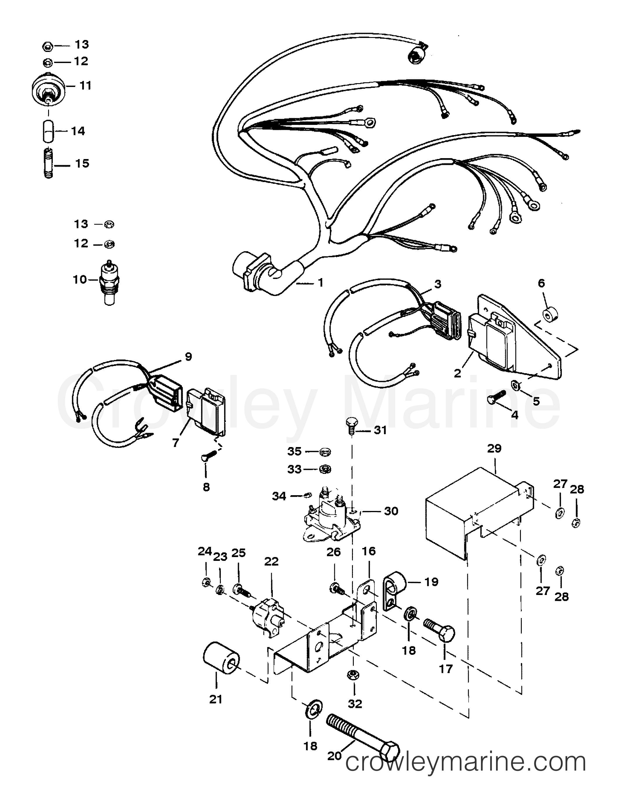 Mercury Outboard Thunderbolt Iv Ignition Control Wiring