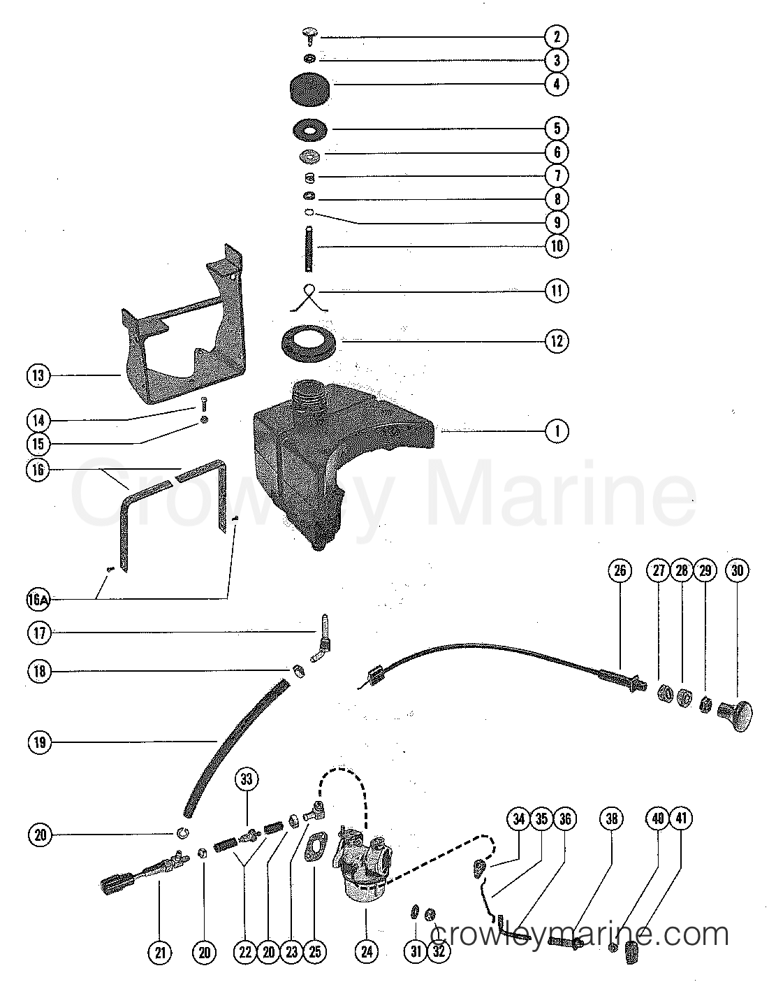 Fuel Tank Fuel Lines And Carburetor