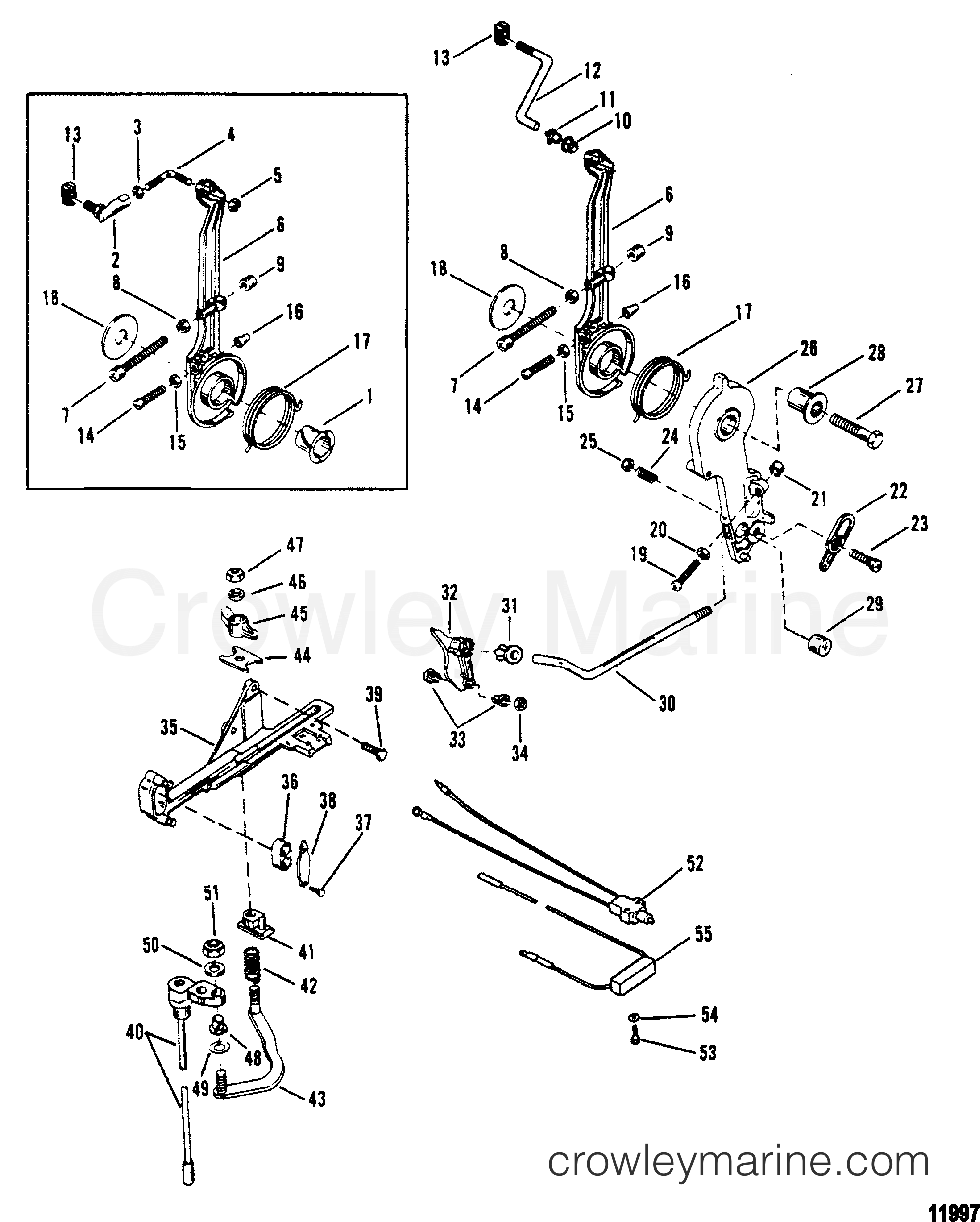 Throttle Lever And Shift Shaft