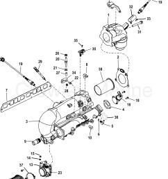 1998 mercruiser 3 0l alpha mpi 41510p1uu intake exhaust manifold and [ 1897 x 2483 Pixel ]