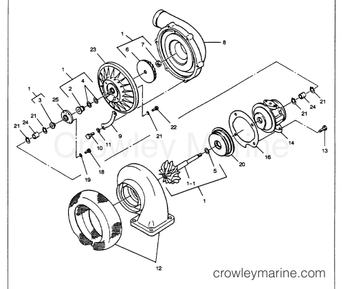 small resolution of turbocharger figure 1 e7 section