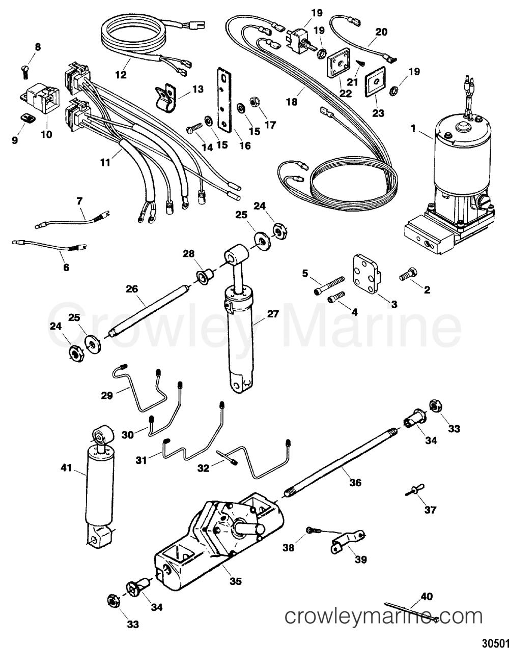 medium resolution of serial range force outboard trim tilt 1984 1999 85 150