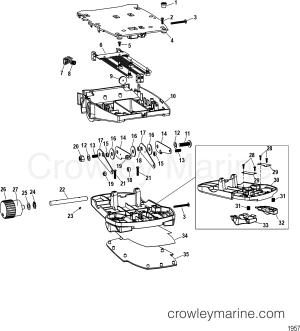 FOOT PEDAL ASSEMBLY(M0099101)  1995 MotorGuide 12V