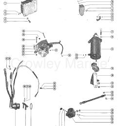 starter motor starter solenoid rectifier and wiring harnes mercury solenoid wiring [ 1104 x 1405 Pixel ]