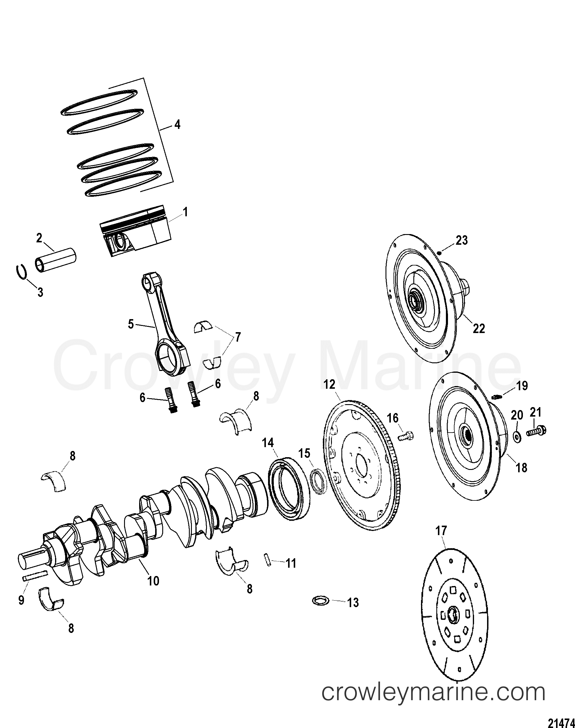 Engine Components Crankshaft Piston Connecting Rods