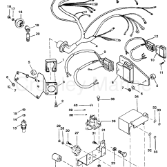 Mercruiser 5 7 Wiring Diagram 2016 Dodge Ram 1500 Speaker Harness And Electrical Components 1993 Mercury