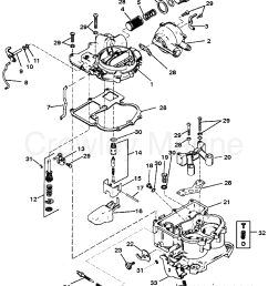 carburetor mercarb 2 barrel 1987 mercruiser 260 02602347 mercruiser 260 carburetor diagram 1987 mercruiser [ 1955 x 2357 Pixel ]