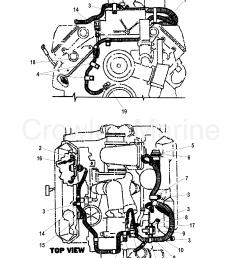 1997 mercruiser 7 3l d tronic 473b116kd engine wiring harness section [ 1827 x 2418 Pixel ]