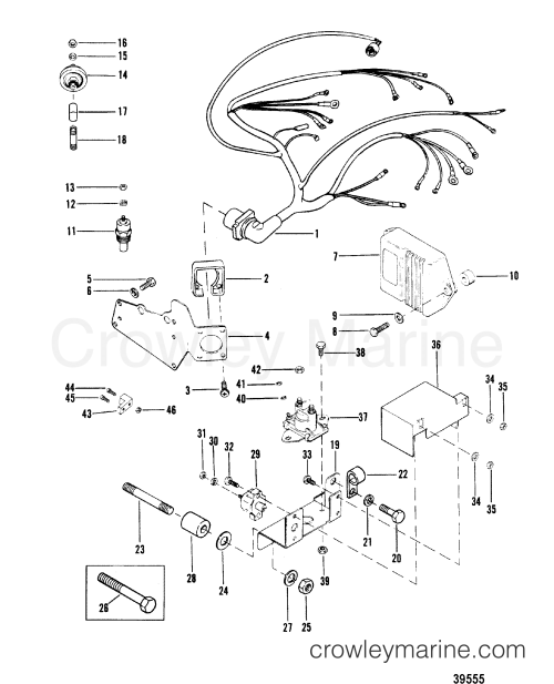 small resolution of 1982 mercruiser mc1 00014332 wiring harness and electrical components section