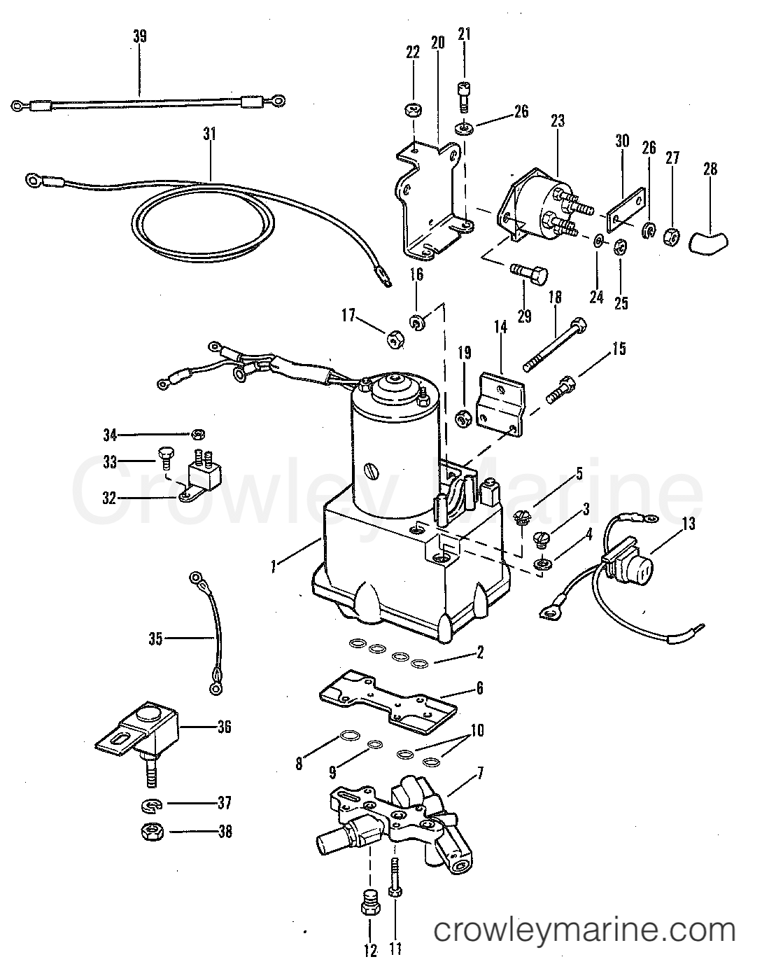POWER TRIM COMPONENTS (WITH CIRCUIT BREAKER AND FUSE
