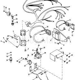 1992 mercury inboard engine 7 4l 37412212s wiring harness electrical components thunderbolt [ 1953 x 2432 Pixel ]