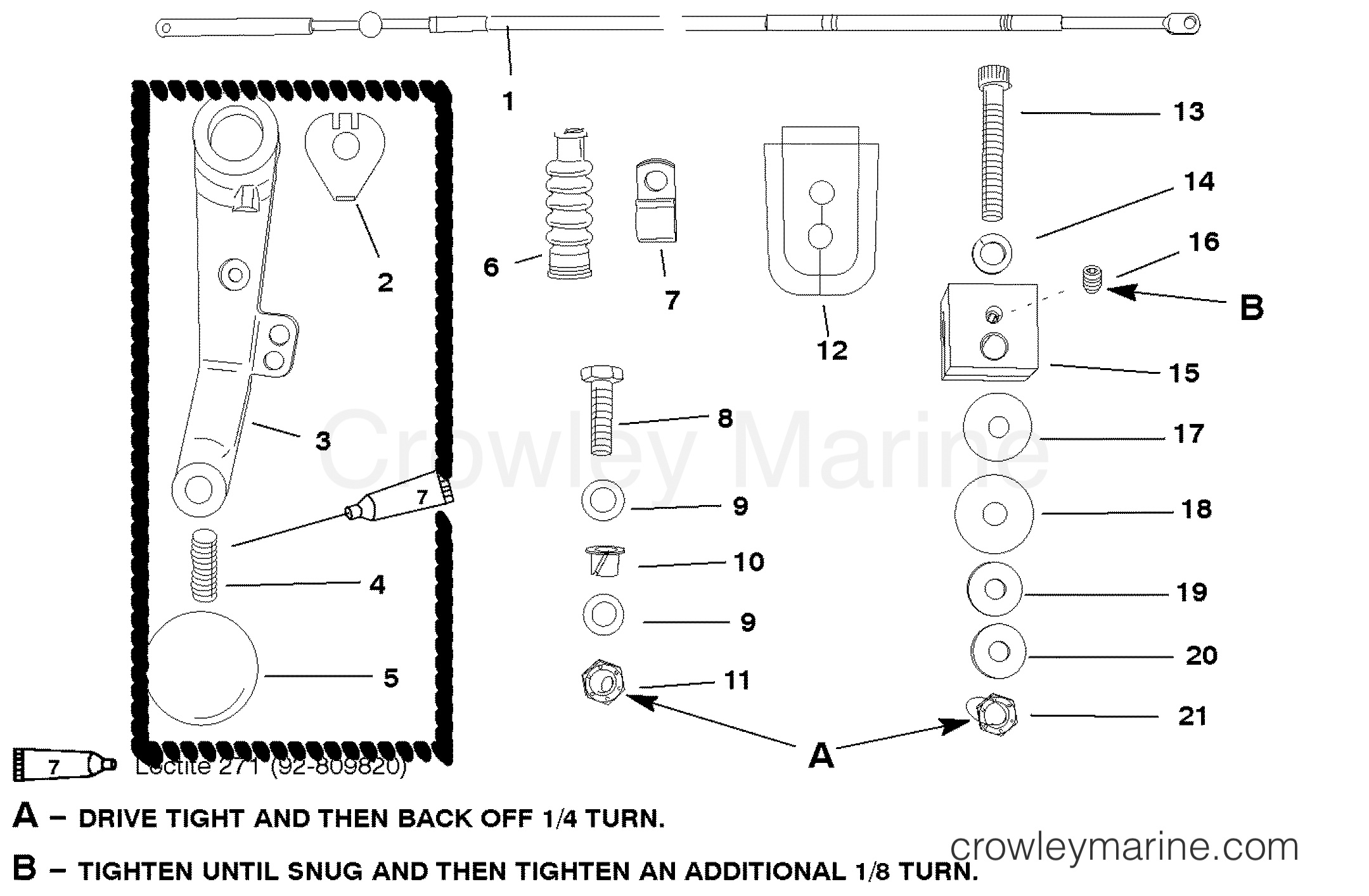 Tiller Handle Adaptor Kit Jet 45