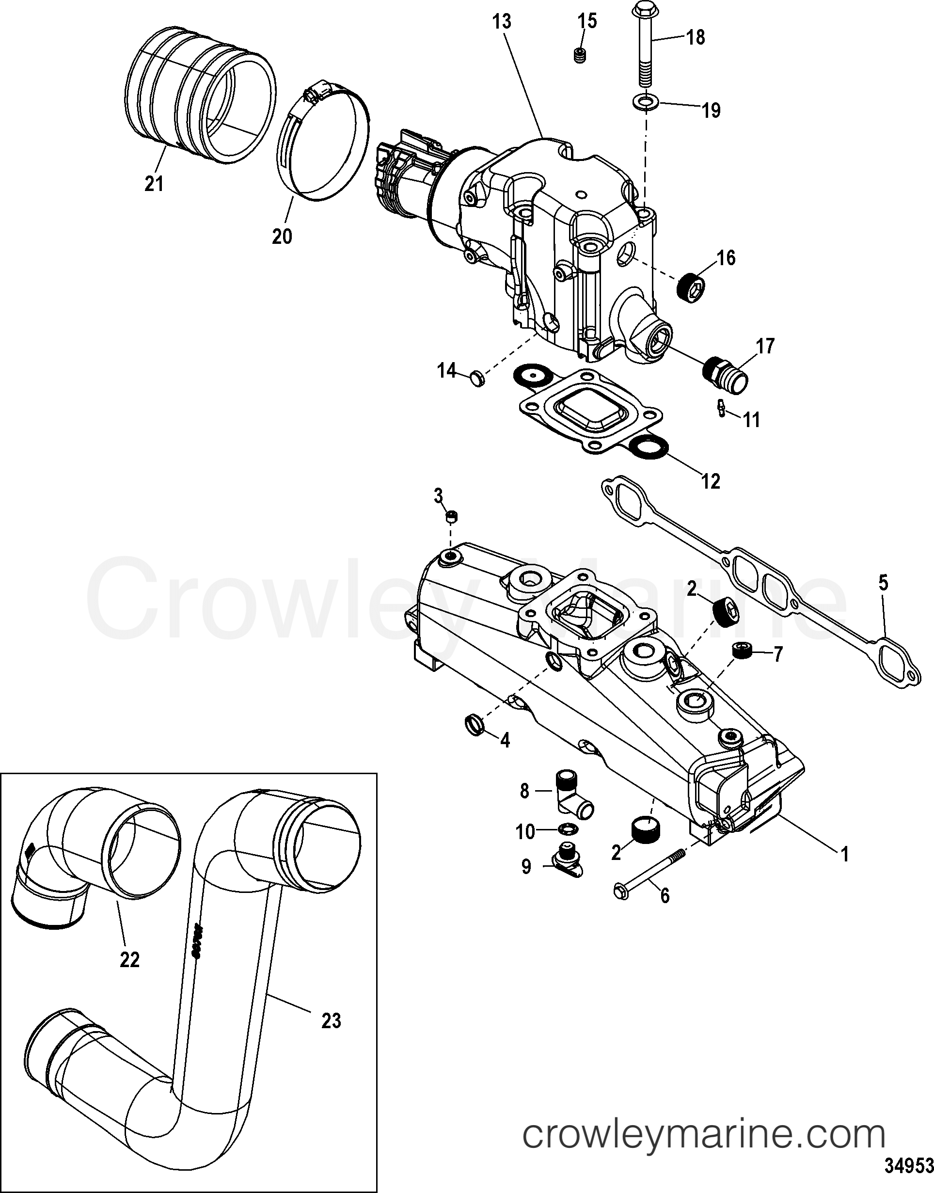 Exhaust Manifold Elbow And Pipes