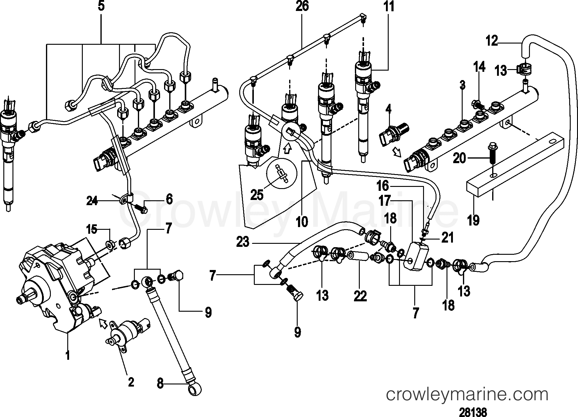 Fuel Injection Pump Rails Lines And Injector