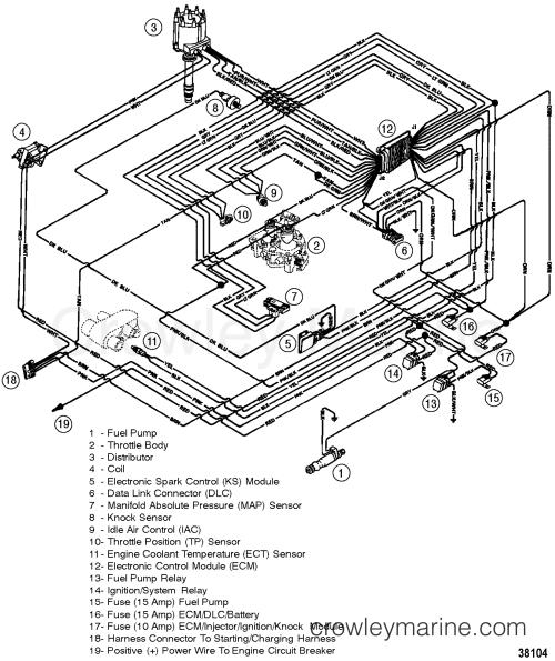 small resolution of wiring harness efi 1997 mercruiser 5 7l tbi alpha 457b101ks omc sterndrive 5 7l omc wire diagram