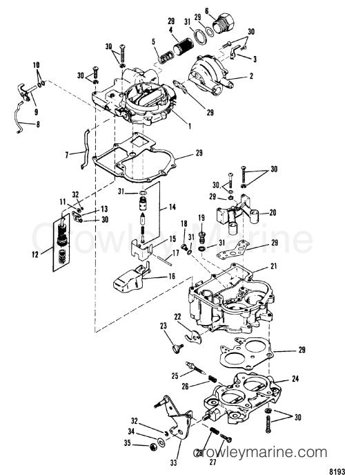 small resolution of carburetor mercarb 0c856559 thru d447414 0d836076 up 1990 mercruiser 140 carburetor diagram
