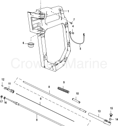 serial range mercruiser vazer drive 0w995000 up transom plate and shift cable section [ 1790 x 2429 Pixel ]