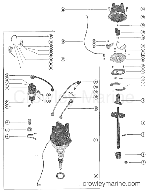 small resolution of 140 mercruiser coil wiring diagram
